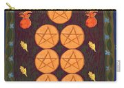 Seven Of Pentacles Carry-all Pouch
