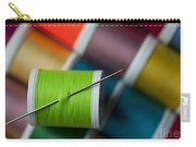 Sewing Needle With Bright Colored Spools Carry-all Pouch