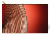 Sexy Woman Hips In Fishnet  Carry-all Pouch