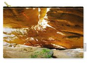 Shades Of Light Shadow And Texture On Cliff Wall Carry-all Pouch