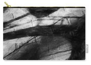 Shadow Heart Rough Charcoal Carry-all Pouch