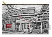 Shadow Of The Stadium Carry-all Pouch by Scott Pellegrin