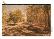 Shadows On Autumn Lane Carry-all Pouch