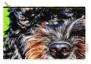 Shaggy Black Dog Carry-all Pouch