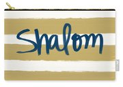 Shalom- Blue With Gold Carry-all Pouch