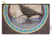 Shaman Black Raven And His Mate Medicine Woman Blue Fairy Animal Spirit Medicine Wheel Carry-all Pouch