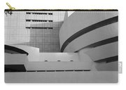 Shapes Of The Guggenheim In Black And White Carry-all Pouch