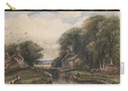 Shardlow Lock With The Lock Keepers Cottage Carry-all Pouch by James Orrock
