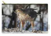 Sharp-shinned Hawk And Feather Carry-all Pouch
