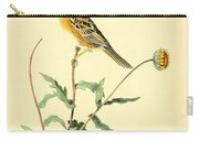 Sharp-tailed Bunting Carry-all Pouch by Philip Ralley