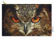 Sharpie Owl Carry-all Pouch by Ayse Deniz