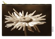 Shasta Daisy Flower Sepia Carry-all Pouch