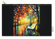 She Left... - Palette Knife Oil Painting On Canvas By Leonid Afremov Carry-all Pouch
