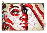 She Pop Art Rose Carry-all Pouch