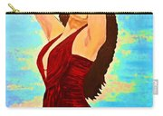 Woman In A Red Dress 1 Carry-all Pouch