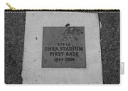 Shea Stadium First Base In Black And White Carry-all Pouch