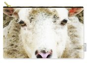 Sheep Art - White Sheep Carry-all Pouch