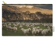 Sheep Flock At Dawn Arrowtown Otago New Carry-all Pouch