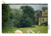 Sheep Grazing By Castle Carry-all Pouch