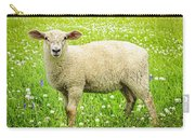 Sheep In Summer Meadow Carry-all Pouch