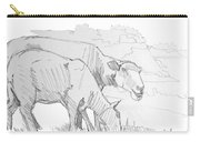Sheep Pencil Drawing  Carry-all Pouch