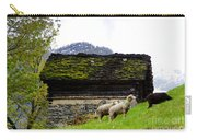 Sheeps And Rustic House Carry-all Pouch