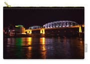Shelby Street Bridge At Night Carry-all Pouch by Dan Sproul