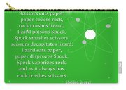Sheldon Cooper - Rock Paper Scissors Lizard And Spock Carry-all Pouch