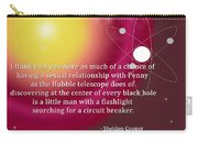 Sheldon Cooper - The Center Of Every Black Hole Carry-all Pouch