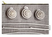 Shells And Sticks Carry-all Pouch by Carol Leigh