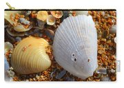 Shells On Sand2 Carry-all Pouch by Riad Belhimer