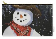 Shelly's Snowman Carry-all Pouch