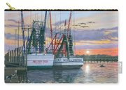 Shem Creek Shrimpers Charleston  Carry-all Pouch by Richard Harpum