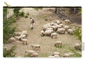 Shepherd With Sheep Carry-all Pouch