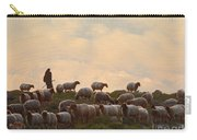 Shepherd With Sheep Standard Size Carry-all Pouch
