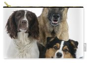 Shepherds With English Springer Spaniel Carry-all Pouch