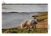 Shetland Pony At Shore  Shetland Carry-all Pouch