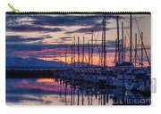 Shilshole Olympic Mountains Sunset Carry-all Pouch