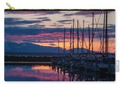 Shilshole Olympic Mountains Sunset Vertical Carry-all Pouch