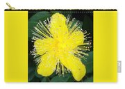 Shimmer Yellow Flower Carry-all Pouch