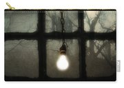 Lit Light Bulb Shines In Old Window Carry-all Pouch