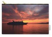 Ship At Mykonos Bay Mykonos Cyclades Greece  Carry-all Pouch