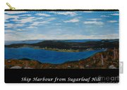 Ship Harbour From Sugarloaf Hill - Historic Town - Atlantic Charter Carry-all Pouch
