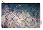 Motorbikes On A Ship Wreck Carry-all Pouch