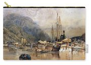 Shipping On The Hudson River Carry-all Pouch by Samuel Colman