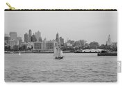 Ships And Boats In Black And White Carry-all Pouch