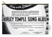 Shirley Temple Song Album Carry-all Pouch