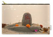 Shivling From Sand Carry-all Pouch