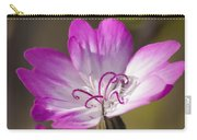 Shocking Pink Chenille Carry-all Pouch