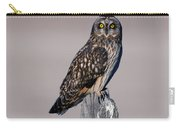 Short Eared Owl Carry-all Pouch